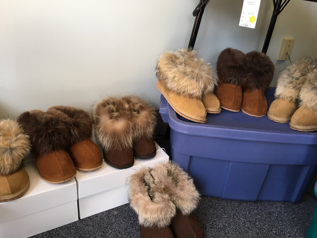 Shearling House Shoes | $125